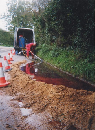 Road Oil Spill